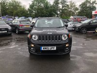 USED 2015 15 JEEP RENEGADE 1.6 M-JET LONGITUDE 5d 118 BHP IN BLACK WITH ONLY 51000 MILES WITH SAT NAV AND BLUETOOTH. APPROVED CARS ARE PLEASED TO OFFER THIS JEEP RENEGADE 1.6 M-JET LONGITUDE 5 DOOR 118 BHP IN BLACK WITH ONLY 51000 MILES IN IMMACULATE CONDITION INSIDE AND OUT WITH ALLOYS,SAT NAV,BLUETOOTH,CRUISE CONTROL,DAB RADIO AND MUCH MORE WITH A FULL SERVICE HISTORY SERVICED AT 5K,17K,30K AND 40K A GREAT JEEP AT A VERY SENSIBLE PRICE.