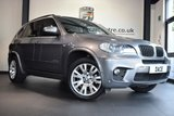 """USED 2012 11 BMW X5 3.0 XDRIVE30D M SPORT 5DR 241 BHP superb service history *NO ADMIN FEES* FINISHED IN STUNNING MINERAL METALLIC GREY WITH FULL BLACK LEATHER INTERIOR + SUPERB SERVICE HISTORY + PRO SATELLITE NAVIGATION + BLUETOOTH + XENON LIGHTS + CRUISE CONTROL + HEATED ELECTRIC SEATS + LIGHT PACKAGE + DAB RADIO + RAIN SENSORS + PARKING SENSORS + 19"""" ALLOY WHEELS"""