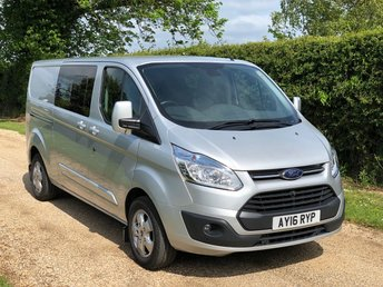 2016 FORD TRANSIT CUSTOM 2.2 TDCI 290 LIMITED L2 H1 6 Seat Double Cab Crew Van 155ps £14999.00