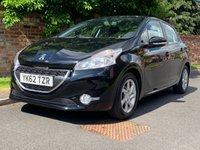 USED 2012 62 PEUGEOT 208 1.4 ACTIVE 5d 95 BHP 2 OWNER, GOOD SERVICE HISTORY, 1YR MOT, EXCELLENT CONDITION, ALLOYS, AIR CON, BLUETOOTH, FOGS, RADIO CD, E/WINDOWS, R/LOCKING, FREE WARRANTY, FINANCE AVAILABLE, HPI CLEAR, PART EXCHANGE WELCOME,