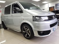2013 VOLKSWAGEN TRANSPORTER 2.0 T32 TDI SPORTLINE KOMBI AUTO+DSG+XENON+LEATHER HEATED SEATS+SAT NAV+CAMERA+SIDE BARS+BLACK ALLOYS+1 OWNER FROM NEW+++NO VAT++ £21500.00