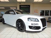USED 2010 10 AUDI A3 2.0 S3 TFSI QUATTRO 5d 261 BHP FULL SERVICE HISTORY + MAY 2020 MOT + SATELLITE NAVIGATION + BLUETOOTH + STAGE 2 REMAP + STAINLESS STEEL POWERVALVE EXHAUST + FORGE PUMP VALVE + RAM AIR INDUCTION KIT + H AND R LOWERING SPRINGS +ALLOYS