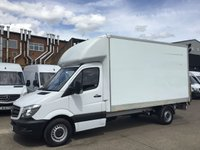 USED 2014 64 MERCEDES-BENZ SPRINTER 2.1 313CDI LWB LUTON BOX TAIL LIFT 130BHP. PX PX WELCOME. CHEAPEST 2014 LUTON BOX. CHOICE OF VANS.