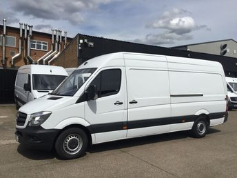2016 MERCEDES-BENZ SPRINTER 2.1 313CDI LWB HIGH ROOF 130BHP. LOW 55K MILES. 1 OWNER. PX £12740.00
