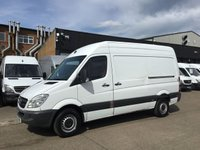 USED 2011 11 MERCEDES-BENZ SPRINTER 2.1 313CDI MWB HIGH ROOF 130BHP. EXCELLENT VALUE. PX CHEAPEST IN UK. FINANCE. PX WELCOME. CHOICE OF VANS.