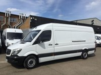 USED 2017 17 MERCEDES-BENZ SPRINTER 2.1 314CDI LWB HIGH ROOF 140BHP. EURO 6. WARRANTY 06/2020 MERC WARRANTY 04/2020. EURO 6. FINANCE. PX WELCOME