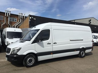 2017 MERCEDES-BENZ SPRINTER 2.1 314CDI LWB HIGH ROOF 140BHP. EURO 6. WARRANTY 06/2020 £14990.00