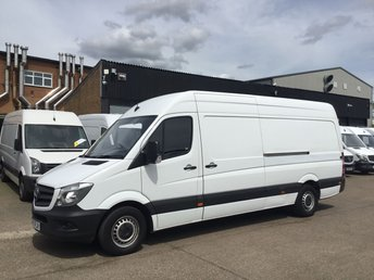 2017 MERCEDES-BENZ SPRINTER 2.1 314CDI LWB HIGH ROOF 140BHP. EURO 6. WARRANTY 04/2020 £14390.00