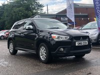 USED 2012 61 MITSUBISHI ASX 1.6 2 5d 115 BHP FULL SERVICE RECORD *  PRIVACY GLASS *  STOP START *  CLIMATE CONTROL *  MOT JAN 2020 *