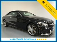 USED 2017 17 MERCEDES-BENZ C CLASS 2.1 C 250 D AMG LINE 2d AUTO 201 BHP SERVICE HISTORY - 1 OWNER - EURO 6 - SAT NAV - LEATHER - CAMERA - PARKING SENSORS - AIR CON