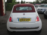 USED 2013 13 FIAT 500 1.2 C LOUNGE 3d 69 BHP CLIMATE CONTROL  - CONVERTIBLE