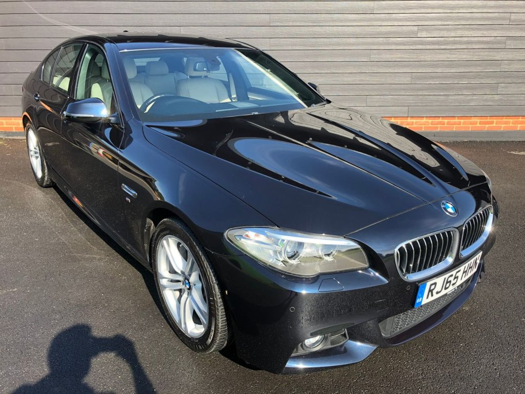USED 2015 65 BMW 5 SERIES 530D M-SPORT CARBON BLACK THE BEST COLOUR