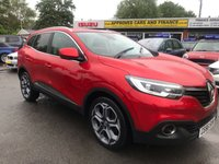 2016 RENAULT KADJAR 1.2 DYNAMIQUE S NAV TCE 5d 130 BHP IN METALLIC RED WITH SAT NAV AND ONLY 32000 MILES. £11999.00