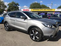 2015 NISSAN QASHQAI 1.5 DCI N-TEC PLUS 5d 108 BHP IN METALLIC SILVER WITH 60,000 MILES AND FULL SERVICE HISTORY £9999.00