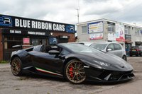 USED 2018 18 LAMBORGHINI HURACAN 5.2 LP 640-4 PERFORMANTE SPYDER 2d AUTO 631 BHP HUGE SPEC, FULL PPF, CERAMIC BRAKES