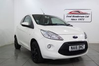USED 2016 16 FORD KA 1.2 ZETEC WHITE EDITION 3d 69 BHP Look at this low mileage Ford KA.Only £30 road tax, great MPG ! Ask about our financing options and our FREE MOT FOR LIFE OFFER! 12 months MOT, Service history, Grey Cloth interior, Tyre condition Excellent, Metallic Blue, Established In 1973 - We are a family-run Dealership who cares about what we do p/x welcome