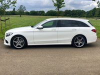 USED 2015 65 MERCEDES-BENZ C CLASS 2.1 C220 D AMG LINE AUTO 170 BHP 5DR ESTATE +PRIVACY+SAT NAV+LEATHER+