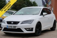 USED 2015 15 SEAT LEON 1.4 TSI FR TECHNOLOGY 5d 150 BHP SATELLITE NAVIGATION, CRUISE CONTROL, HALF LEATHER