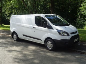 2015 FORD TRANSIT CUSTOM 2.2 290 LR P/V 1d 99 BHP LONG WHEEL BASE LOW ROOF, FULL SERVICE HISTORY  £7490.00