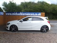 USED 2013 62 MERCEDES-BENZ A CLASS 2.0 A250 BLUEEFFICIENCY ENGINEERED BY AMG 5d AUTO 211 BHP FSH, BLUETOOTH,SAT NAV