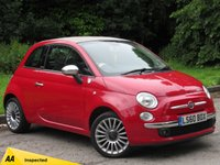 USED 2010 60 FIAT 500 1.2 C LOUNGE 3d 69 BHP BLUETOOTH AND AIR CONDITIONING