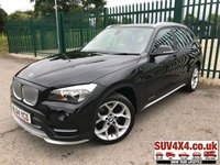 USED 2014 64 BMW X1 2.0 XDRIVE20D XLINE 5d 181 BHP ALLOYS CRUISE LEATHER SATNAV BLUETOOTH A/C MOT 05/20 X DRIVE 4WD. SATELLITE NAVIGATION. STUNNING BLACK MET WITH FULL BLACK LEATHER SPORT TRIM. CRUISE CONTROL. 18 INCH ALLOYS. COLOUR CODED TRIMS. PARKING SENSORS. BLUETOOTH PREP. CLIMATE CONTROL WITH AIR CON. 6 SPEED MANUAL. R/CD PLAYER. MFSW. MOT 05/20. FULL SERVICE HISTORY. SUV & 4X4 CAR CENTRE LS23 7FR. TEL 01937 849492. OPTION 2