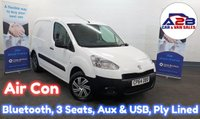 USED 2014 64 PEUGEOT PARTNER 1.6 HDI 90 bhp 850 PROFESSIONAL in White with Air Conditioning, Bluetooth, Aux & USB, 3 Seats and more **Drive Away Today** Over The Phone Low Rate Finance Available, Just Call us on 01709 866668**