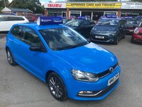 2015 VOLKSWAGEN POLO 1.4 SE DESIGN TDI BLUEMOTION 3d 75 BHP IN BLUE WITH 55000 MILES AND ONLY ONE OWNER WITH FULL SERVICE HISTORY. £7799.00