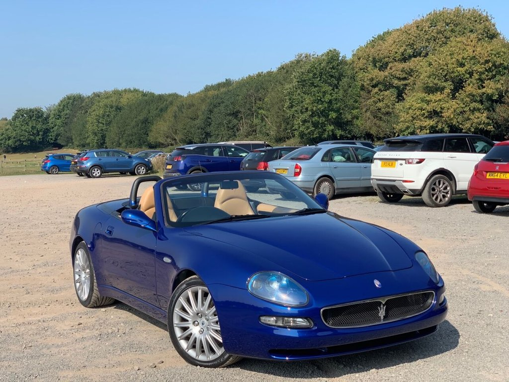 USED 2003 R MASERATI SPYDER 4.2 V8 2d 385 BHP Cat-D,Maserati Spyder Cambiocorsa 4.2 Auto A stunning example of a Maserati Spyder. The car has been maintained to a very high standard (with a file of maintenance invoices). 29K miles full history This Spyder has a very desirable specification to include: -4.2 V8 engine (385 bhp)