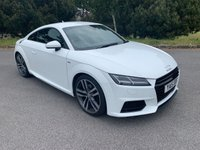 USED 2015 15 AUDI TT 2.0 TFSI S LINE 2d 227 BHP LOW MILEAGE TT SLINE IN WHITE WITH FULL AUDI SERVICE HISTORY