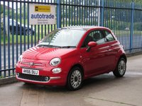 USED 2016 66 FIAT 500 1.2 LOUNGE 3d Pan roof Air con Alloys Just £20 Road Tax,Panoramic Sunroof,Alloys,Service History
