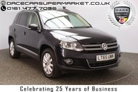 USED 2015 65 VOLKSWAGEN TIGUAN 2.0 MATCH TDI BLUEMOTION TECH 4MOTION PAN ROOF DSG SAT NAV HEATED LEATHER 1 OWNER 148 BHP FULL VW SERVICE HISTORY + HEATED LEATHER SEATS + SATELLITE NAVIGATION + PANORAMIC ROOF + PARKING SENSOR + BLUETOOTH + PARK ASSIST + CRUISE CONTROL + CLIMATE CONTROL + MULTI FUNCTION WHEEL + DAB RADIO + PRIVACY GLASS + RADIO/CD/AUX/USB + ELECTRIC SEATS + ELECTRIC WINDOWS + ELECTRIC MIRRORS + 17 INCH ALLOY WHEELS