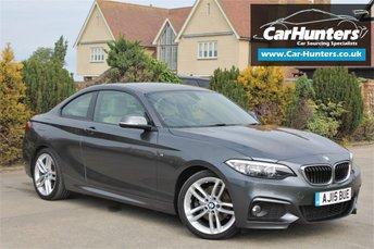 2015 BMW 2 SERIES 2.0 220D M SPORT 2d AUTO 188 BHP £14795.00