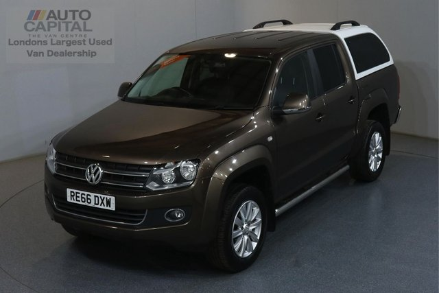2016 66 VOLKSWAGEN AMAROK 2.0 DC TDI HIGHLINE 4MOTION AUTO 180 BHP AIR CON SAT NAV LEATHER SEATS FRONT-REAR PARKING SENSORS