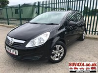 USED 2009 59 VAUXHALL CORSA 1.2 ACTIVE 5d 80 BHP ALLOYS A/C MOT 12/19 BLACK WITH BLACK CLOTH TRIM. 15 INCH ALLOYS. COLOUR CODED TRIMS. AIR CON. E.WINDOWS. E.MIRRORS. R/CD PLAYER. MFSW. MOT 12/19. AGE/MILEAGE RELATED SALE. PART EXCHANGE CLEARANCE CENTRE - LS23 7FQ. TEL 01937 849492 OPTION 4