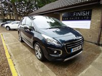 USED 2014 14 PEUGEOT 3008 1.6 HDI ALLURE 5d 115 BHP * FULL SERVICE HISTORY * PARKING CAMERA * SATELLITE NAVIGATION * PARKING SENSORS *