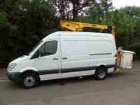 2011 MERCEDES-BENZ SPRINTER 2.1 513 CDI MWB 129 BHP PANEL VAN WITH VERSALIFT CHERRY PICKER/TOWER WAGON  £14995.00