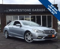 USED 2013 13 MERCEDES-BENZ E CLASS 2.1 E250 CDI BLUEEFFICIENCY S/S SPORT 2d AUTO 204 BHP AMG STYLING AND WHEELS, SAT NAV, LOW MILES FSH, HEATED LEATHER SEATS
