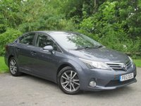 USED 2012 12 TOYOTA AVENSIS 2.0 TR D-4D 4d REAR REVERSING CAMERA, BLUETOOTH CONNECTION