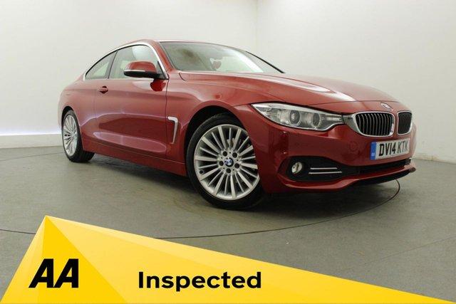 2014 14 BMW 4 SERIES 2.0 420D LUXURY 2d AUTO 181 BHP