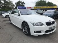 2012 BMW 3 SERIES 3.0 325I M SPORT 2d AUTO 215 BHP IN WHITE WITH ONLY 58000 IN IMMACULATE CONDITION. £11799.00