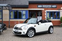 USED 2011 61 MINI CONVERTIBLE 1.6 COOPER 2d 122 BHP Full Service History! Half Leather!
