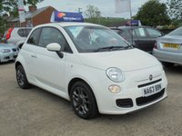 USED 2013 63 FIAT 500 1.2 S 3d 69 BHP * 1 OWNER* LOW MILES* HALF LEATHER* STUNNING THROUGHOUT*