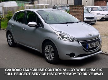 2013 PEUGEOT 208 1.2 Access Plus 5 Door Hatchback In Silver With Alloys £5850.00