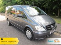 USED 2014 14 MERCEDES-BENZ VITO 2.1 113 CDI TRAVELINER 5d AUTO 136 BHP.*ULEZ COMPLIANT*AIR CON* Fantastic Low Mileage Long Wheelbase Mercedes Vito Traveliner with Eight Seats, Automatic Gearbox, Air Conditioning,  Cruise Control and Mercedes Service History. This Vehicle is ULEZ Compliant.