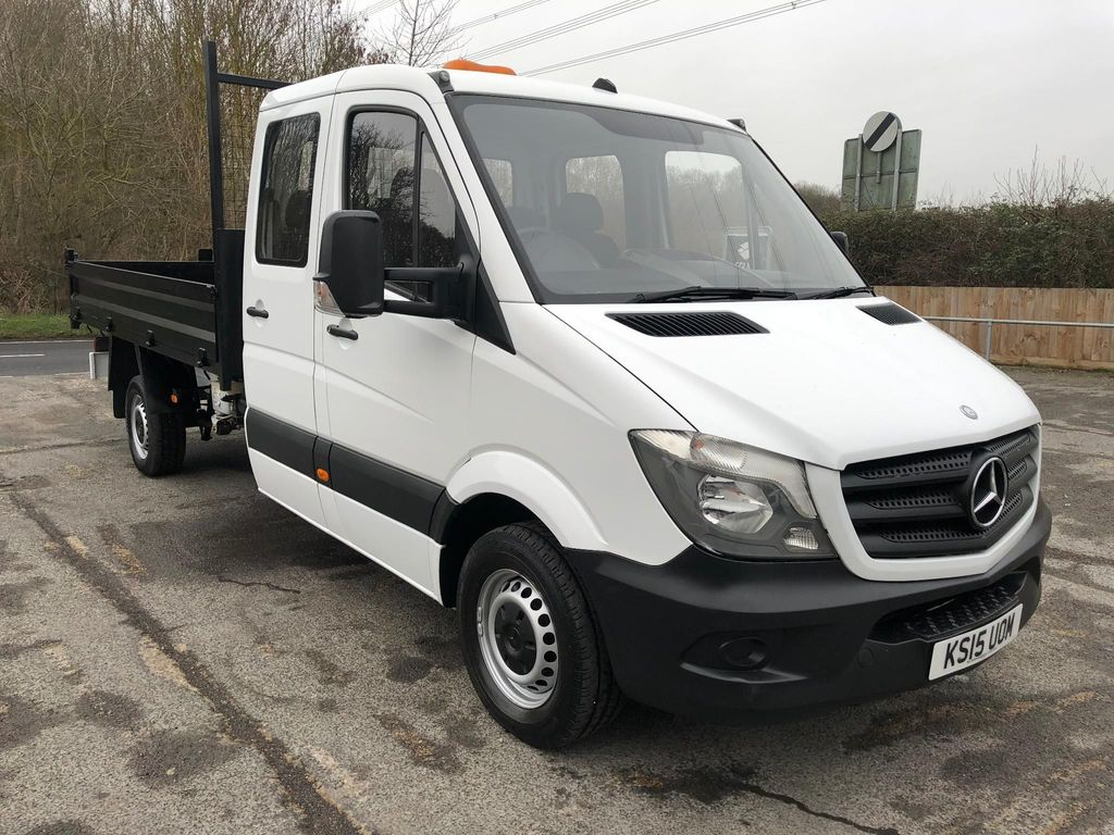 USED 2015 15 MERCEDES-BENZ SPRINTER 2.1CDI 313 LWB D/CAB TIPPER (130 BHP) **LOVELY EXAMPLE**