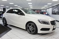 USED 2014 63 MERCEDES-BENZ A CLASS 2.1 A220 CDI AMG SPORT AUTO 170 BHP BLUEEFFICIENCY PAN ROOF NIGHT PACK FMBSH LTHR