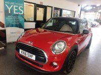 USED 2016 16 MINI HATCH COOPER 1.5 COOPER D 3d 114 BHP £0 Road tax, 60 MPG, fitted with a Chilli pack, this Mini Cooper Diesel is finished in Midnight Blazing red with body coloured mirror caps with black leather & cloth trim. It has a big specification. It is fitted with panoramic sunroof, remote locking, Mini mood lighting, electric windows and mirrors, climatic air con, Bluetooth, anthracite roof lining, tinted glass, isofix, fogs, cruise control, Bluetooth, day lights, rain sensor, black alloy wheels, USB - Aux - DAB - CD Stereo and more.