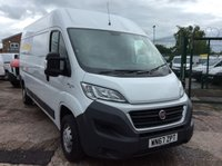USED 2017 67 FIAT DUCATO LWB 2.3 35 H/R MULTIJET II 129 BHP 1 OWNER FSH MANUFACTURER'S WARRANTY EURO 6 SPARE KEY REAR PARKING SENSORS 6 SPEED BLUETOOTH ELECTRIC WINDOWS AND MIRRORS