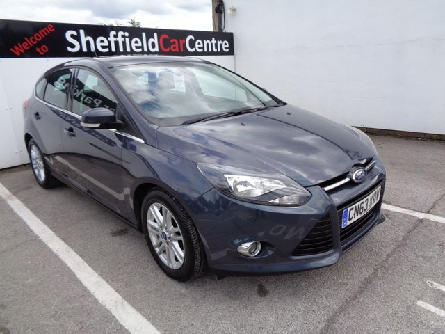 USED 2013 63 FORD FOCUS 1.6 TITANIUM TDCI 115 5 door  114 BHP grey £139 A Month Heated Windscreen Dab Radio Multimedia Bluetooth Climate And Cruise Control